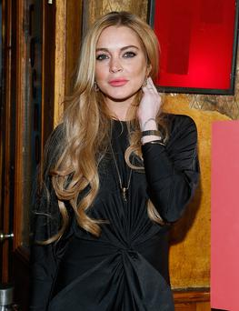 "Lindsay Lohan attends the ""Just Sing It"" app launch event at Pravda on December 16, 2013 in New York City. (Photo by John Lamparski/WireImage)"