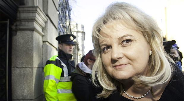 Rehab Chief Executive Angela Kerins ariving to give evidence at the PAC last month