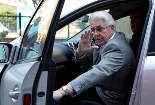 Publicist Max Clifford leaves Southwark Crown Court in central London