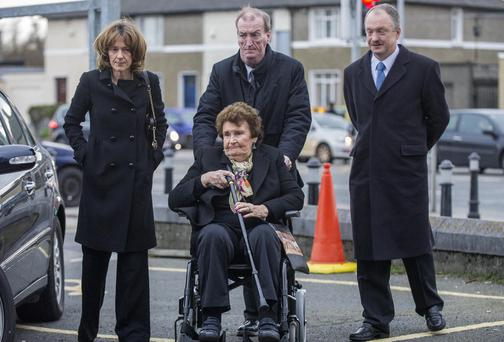 At Maureen's funeral were Orla, Ciarán and Sean Haughey with Charlie Haughey's widow Maureen Haughey