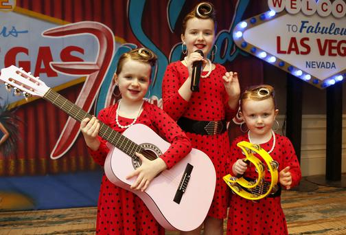 Make-A-Wish child Ashleigh Kiernan aged 11 (centre) from Lucan, Co Dublin, with her sisters Isabel (aged 8) and Matilda (aged 5)