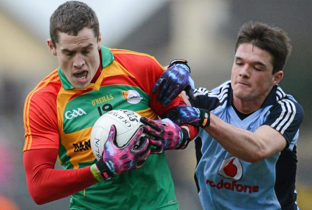 Carlow's Brendan Murphy is unavailable because he is going abroad on a tour with the army