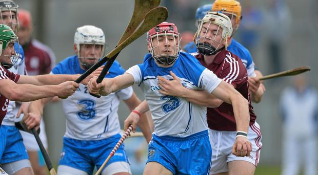 Waterford's Shane O'Sullivan in action against Padraig Brehony during his team's win over Galway