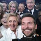 The famous selfie from the Oscars; psychologists believe the 'selfie culture' may be undermining our self esteem