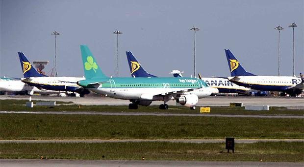 Planes on the tarmac at Dublin Airport