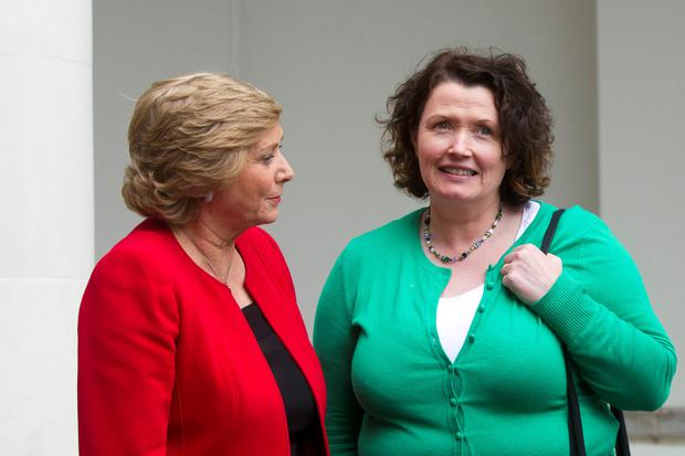 Frances Fitzgerald, Minister for Children and Youth Affairs with Teresa Heaney Chief Operating Officer of Early Childhood Ireland. Picture: Mark Condren