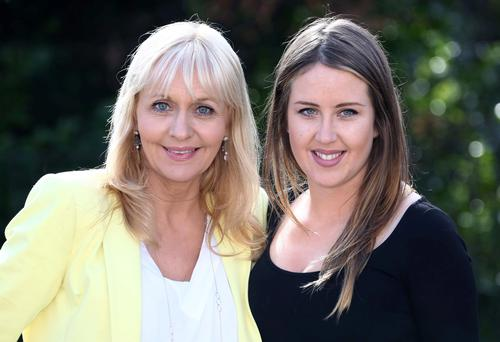 Miriam O'Callaghan and her daughter, Clara pictured celebrating International Women's Day at the Shelbourne Hotel, Dublin. Picture: Colin Keegan, Collins Dublin