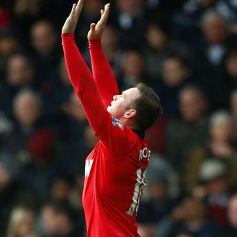 Manchester United's Wayne Rooney celebrates after scoring