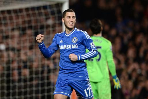 Chelsea's Eden Hazard has been over-looked for the Player of the Month award.