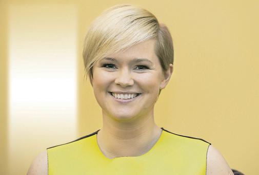 Novel approach: Author Cecelia Ahern began suffering from panic attacks as a teenager, but found release from writing her first book, 'PS I Love You'.