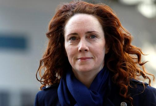 Rebekah Brooks arrives at the Old Bailey court house in London. Photo: Luke MacGregor/Reuters
