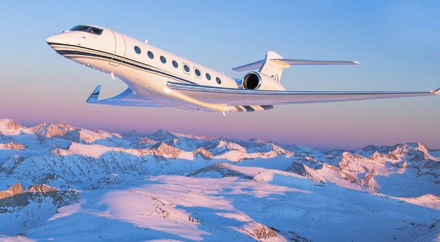 EVEN IF YOU PROMISE TO BE VERY VERY GOOD, IT'S A LOT TO EXPECT FROM SANTY: For a start he'd have big problems trying to get the Gulfstream g650 M-GSI down the chimney