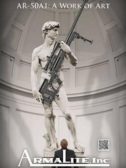 The Italian culture minister said the US weapons firm's use of the image of David is illegal