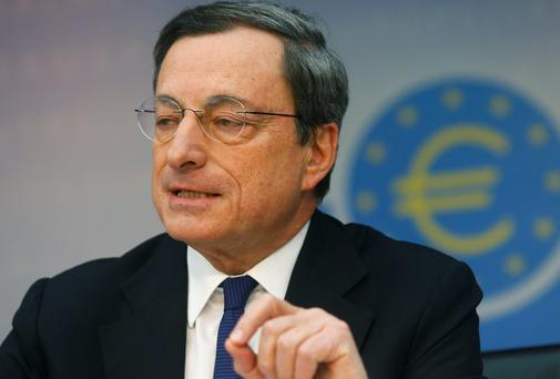 ECB President Mario Draghi at the ECB news conference last week. REUTERS