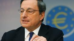 SUPER MARIO: Equity and bond prices have risen, thanks to President of the European Central Bank Mario Draghi. Photo: Reuters