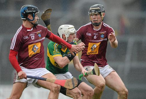 Shane Nolan, Kerry, in action against Ciaran Glennon, left, and Aaron Craig, Westmeath