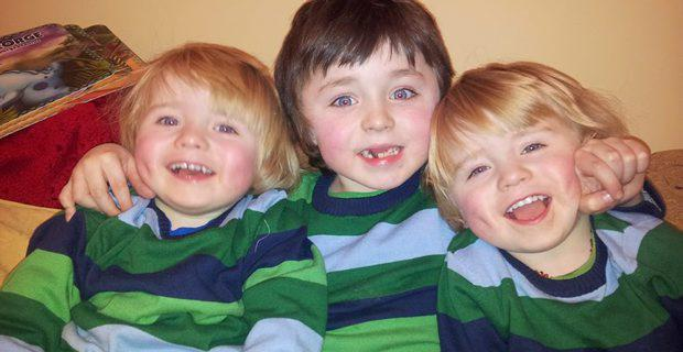Archie (8) and three-year-old twin boys George and Isaac have all been diagnosed with Duchennes Muscular Dystrophy