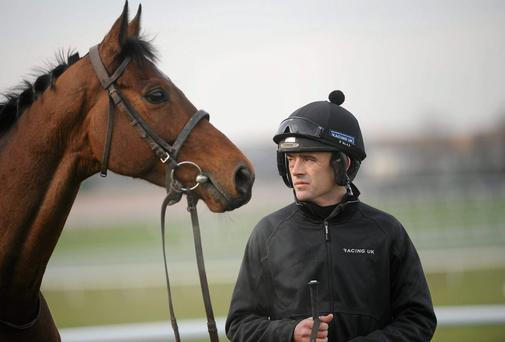 Hurricane Fly with jockey Ruby Walsh. Picture: Barry Cregg / SPORTSFILE
