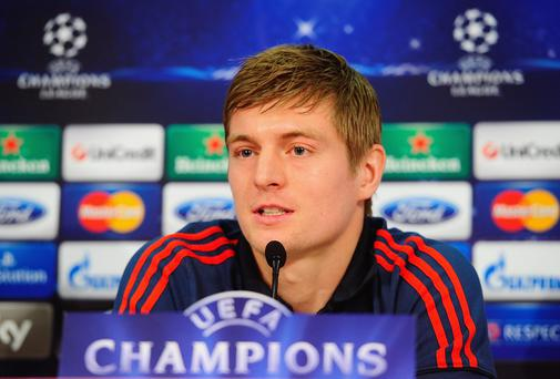Toni Kroos of Bayern Munich