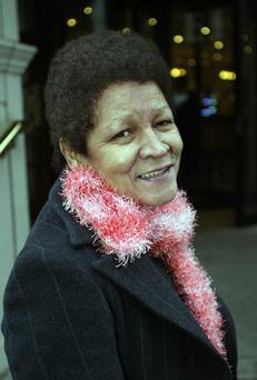 Christine Buckley, leaves a hotel in Merrion Square, Dublin where she attended the Schools. Child Sex Abuse Commission Inquiry, 2006.