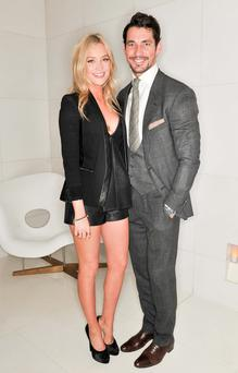 Laura Whitmore and David Gandy attend the 5th Rodial Beautiful Awards at the Sanderson Hotel in London, UK. 10/03/2014.