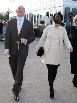 Zara Phillips and Mike Tindall attend on day 1 of The Cheltenham Festical at Cheltenham Racecourse on March 11, 2014 in Cheltenham, England. (Photo by Danny E. Martindale/Getty Images)