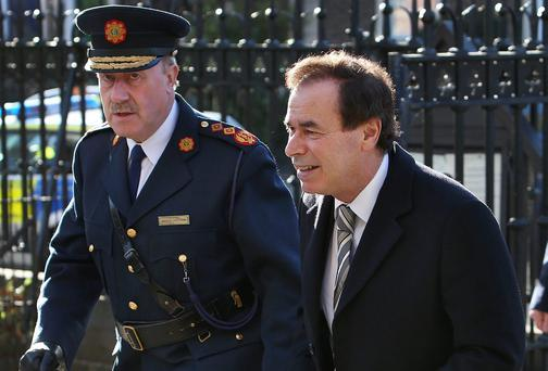 Garda Commissioner Martin Callinan and Minister for Justice Alan Shatter. Picture: Steve Humphreys