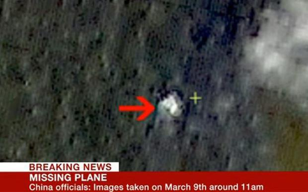 Images showing possible wreckage of missing flight (Photo: BBC News)