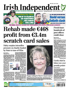 The Irish Independent's front page today.