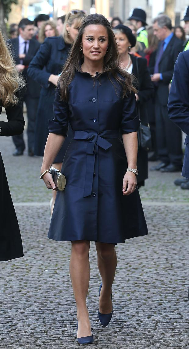Pippa Middleton attends a memorial service for Sir David Frost at Westminster Abbey on March 13, 2014 in London, England. (Photo by Chris Jackson/Getty Images)