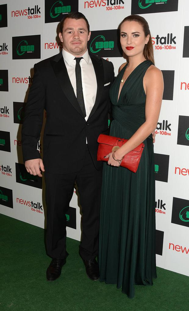 At BOD's testimonial dinner, Holly opted for full on glamour with a stunning green gown and statement lip