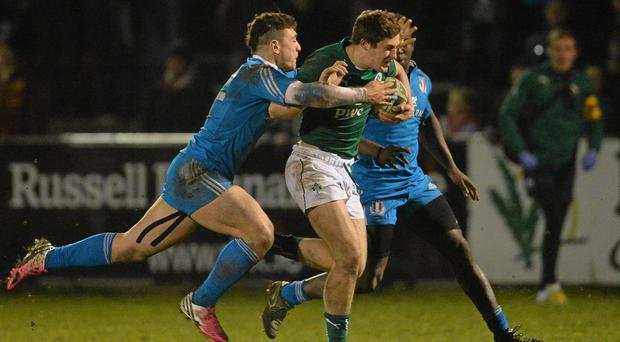 Dan Goggin in action for Ireland U20's in their Six Nations clash with Italy