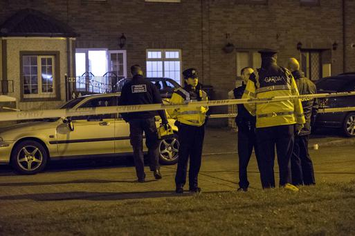 Scene of shooting on Clifden Drive, Ballyfermot