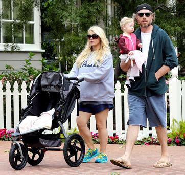 Jessica with fiance Eric Johnson and daughter Maxwell Drew