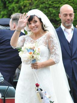 Lily Allen at her 2011 wedding