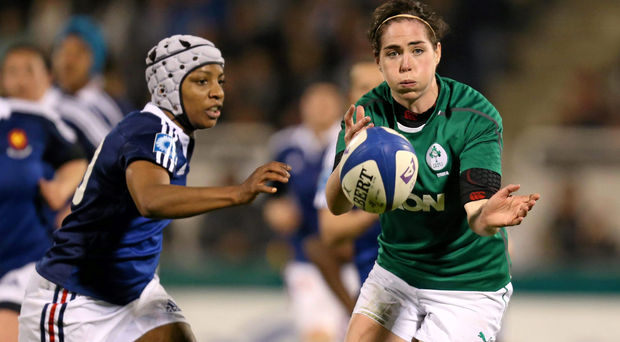 Nora Stapleton, Ireland, in action during the game against France.