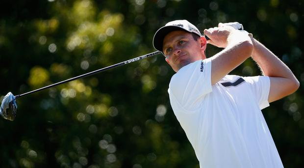 Justin Rose of England hits a tee shot on the 6th hole during the second round of the Valspar Championship