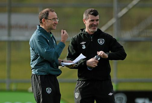 Roy Keane, right, believes he and Martin O'Neill can get the most out of Ireland's most talented players