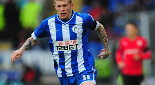Wigan's James McClean: Two goals