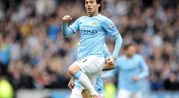 David Silva will be looking to continue his good from against title rivals Arsenal