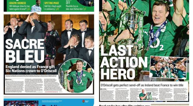 The English and Irish version of The Sunday Times