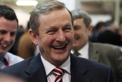 01/02/14 Party Leader, An Taoiseach Enda Kenny TD at the Fine Gael Ard Fheis in the R.D.S Dublin this evening.. Pic STEPHEN COLLINS/Collins Photos