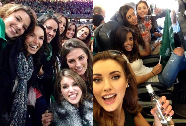 The WAGs of the Irish rugby team posted many selfies over the weekend