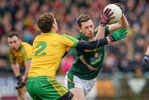 Michael Newman - seen here in action against Donegal - kicked six points for Meath against Laois