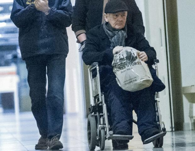 Criminal John Gilligan leaving hospital just after midnight