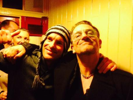 Bono joined stag Matthew Kennedy and his friends for an afternoon pint in the seaside town of Dingle, the party-goers hardly able to believe their eyes when the rock star joined them. (Photo: Matthew Kennedy)