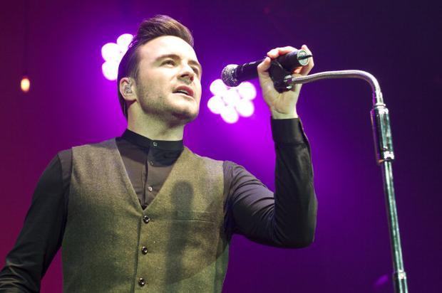 Shane Filan performing as a solo artist for the first time at Eventim Apollo, Hammersmith on March 7, 2014 in London, United Kingdom.