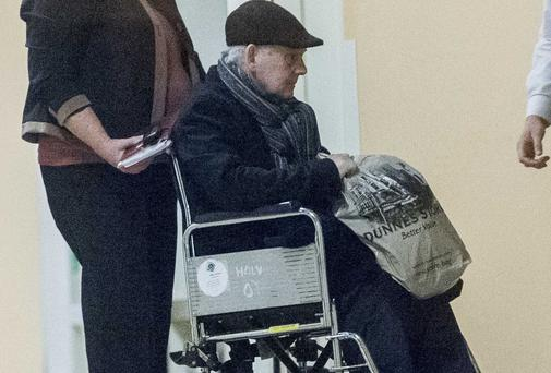 Criminal John Gilligan leaving hospital
