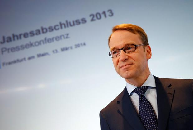 Jens Weidmann, President of Germany's federal reserve bank. Reuters