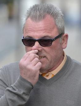 "Edward ""Ted"" Terry, 59, of Lennox Close in Grays, Essex, arrives at the Old Bailey, London, where he is accused of racially aggravated assault on Amarjit Talafair on March 22. Anthony Devlin/PA Wire"
